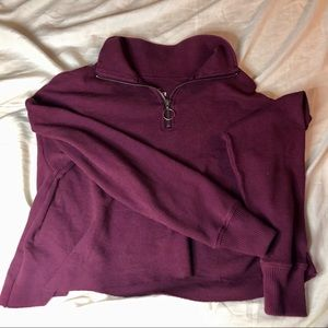 Hollister Half Zip Boyfriend Top